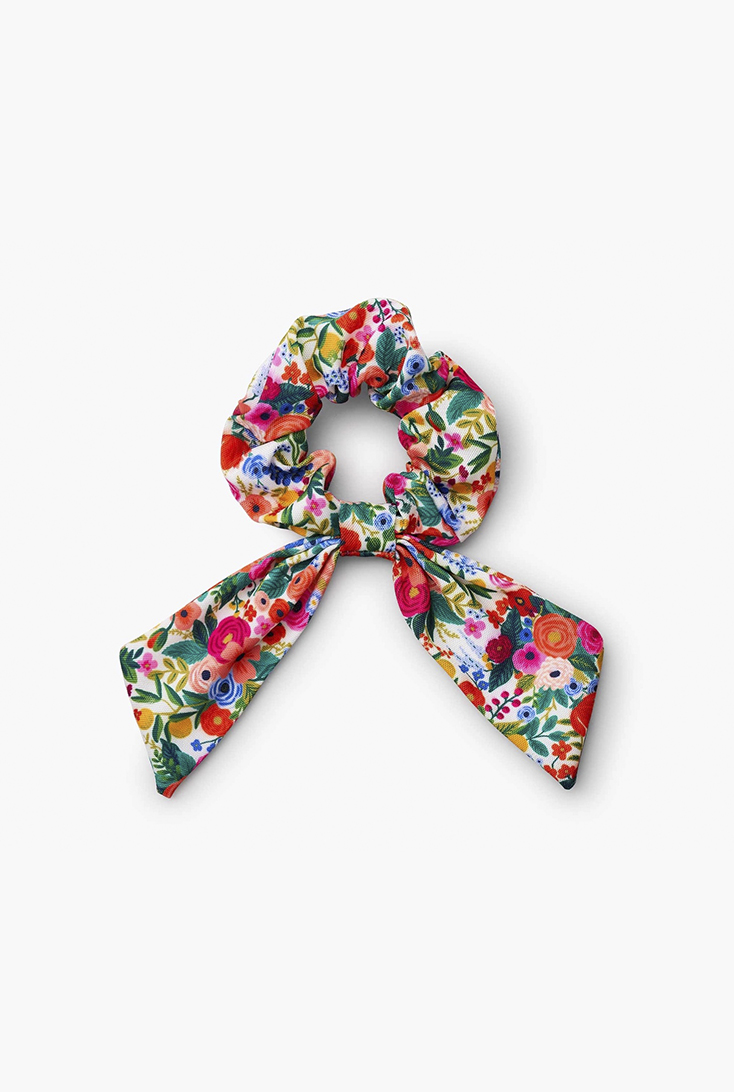 flowers-scrunchie