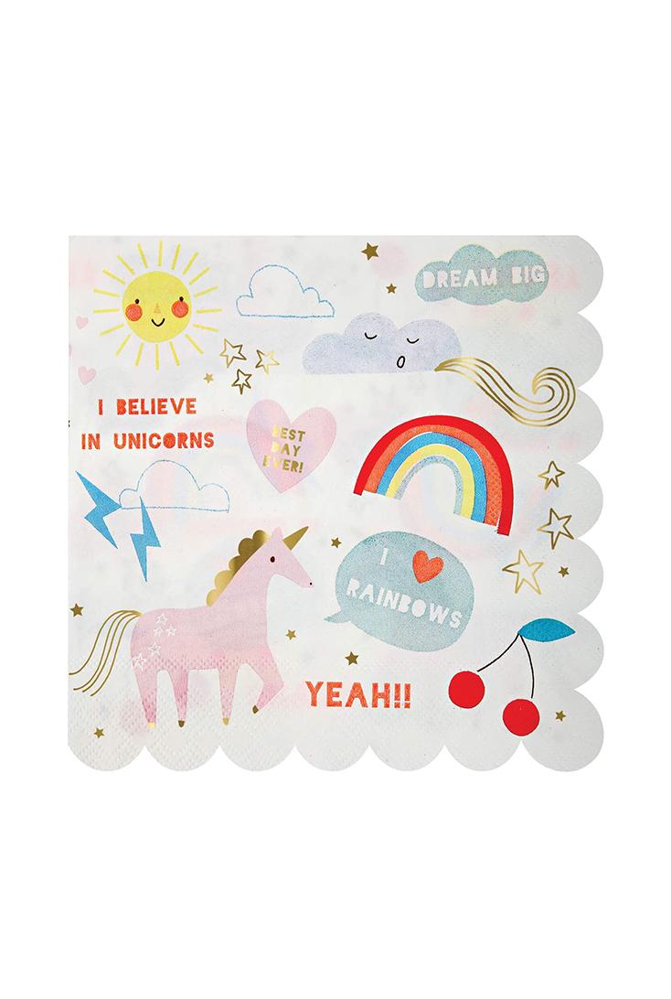unicorn-rainbow-servietter-front